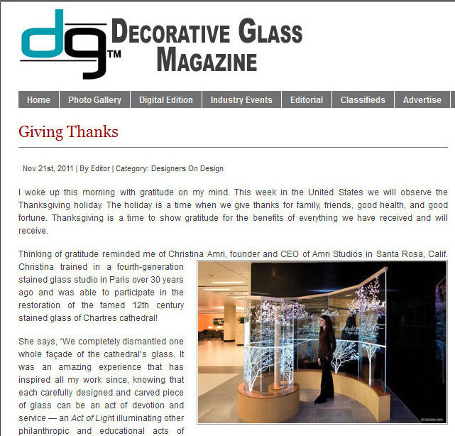 Decorative Glass Magazine blog TOP
