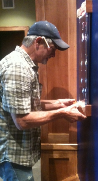 Charly installing amberwing