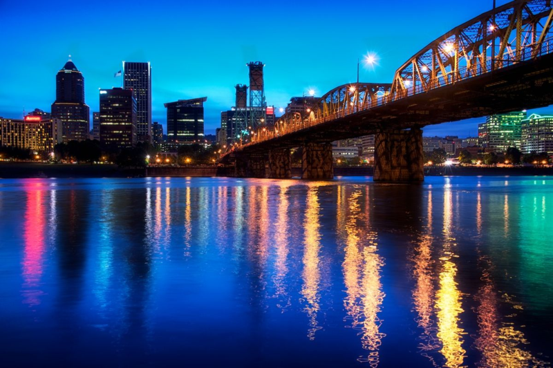 Portland at night by Jim Nix